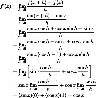 Rumus Turunan Fungsi Trigonometri Beserta Pembuktian